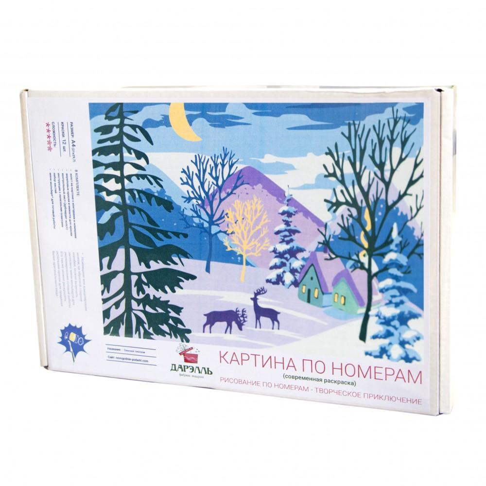 Картина по номерам с ин.дизайном Зимний пейзаж купить ...
